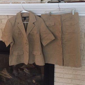 Linen Skirt n Jacket suit!!